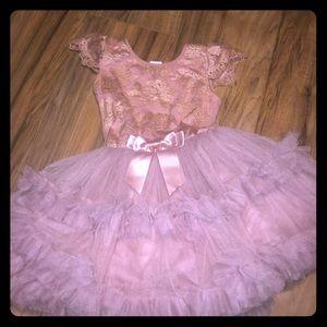 Popatu size 4 Rose/ Gold holiday dress EUC